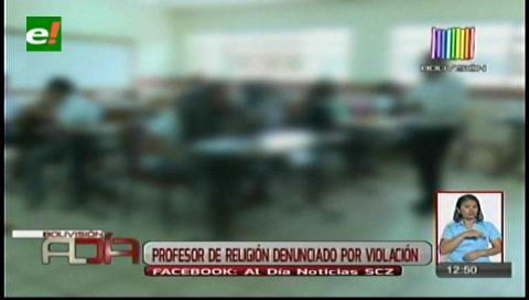 Envían a Palmasola a profesor de Religión acusado de violación