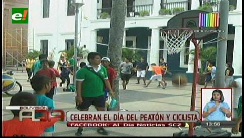Santa Cruz: El primer anillo será para el peatón este domingo