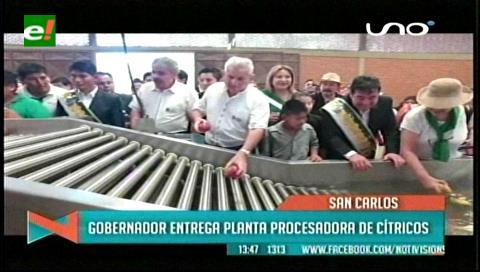 Gobernador Costas entrega Planta de Cítricos y una Alameda al municipio de San Carlos