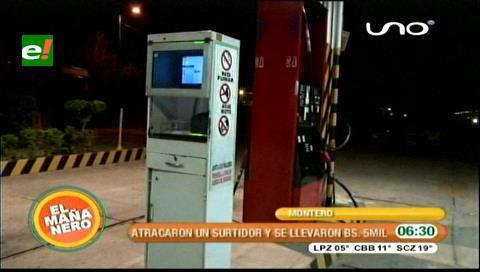 Delincuentes atracan el surtidor Muyurina en Montero