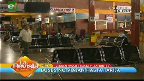 Buses suspenden venta de pasajes y no viajan al sur del país por los bloqueos
