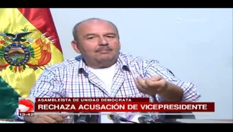 UD rechaza acusaciones de García Linera contra Doria Medina por defraudación fiscal