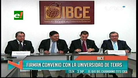 IBCE suscribe convenio con Universidad de Texas para investigación productiva