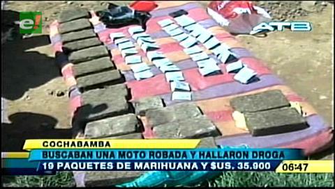 Hallan cuatro vehículos robados y $us 35.900 enterrados en una casa en Cochabamba
