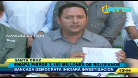 Diputado Dorado denuncia que EMAPA sufrió pérdidas millonarias