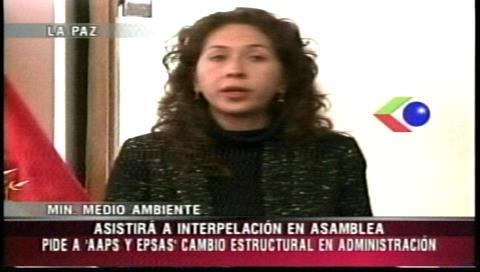 Ministra de Medio Ambiente asistirá a interpelación del Legislativo si es convocada