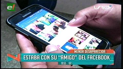 """Menor desaparecida estaba con su """"novio del Facebook"""""""