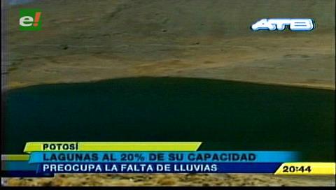 Lagunas que abastecen de agua a Potosí tienen el 20% de su capacidad
