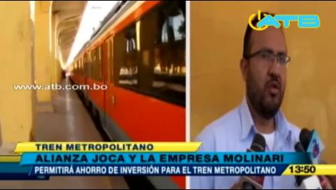 Cochabamba: Joca y Molinari firman alianza para la construcción del Tren Metropolitano