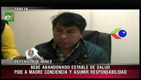 Tarija: Bebé que fue abandonado en un hotel se encuentra estable