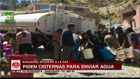 Saguapac pide cisternas para enviar agua a departamentos afectados por escasez