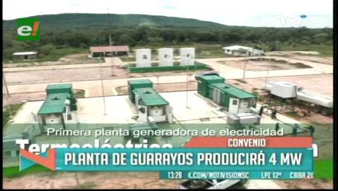 Gobernación cruceña y la CRE firman contrato de operación y mantenimiento de la Planta Energética de Guarayos