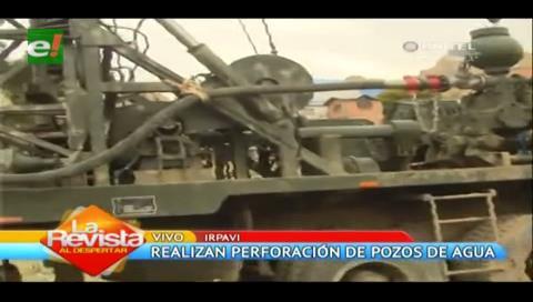 La Paz: Perforadoras de pozos realizan trabajos de excavaciones para proveer de agua
