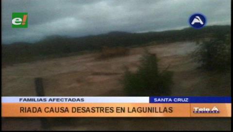 Una riada causa un desastre en Lagunillas