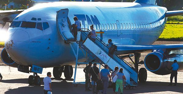 Cuando empiece a volar como empresa estatal comercial, el TAM operará con solo una nave