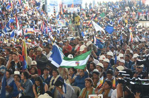 Militantes del MAS presentes en el congreso del partido en Montero, Santa Cruz. Foto: ABI - archivo