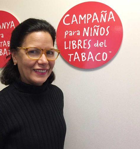 Patricia Sosa, Directora para Latino América y el Caribe, Campaña para Niños Libres de Tabaco, Washington, D.C.