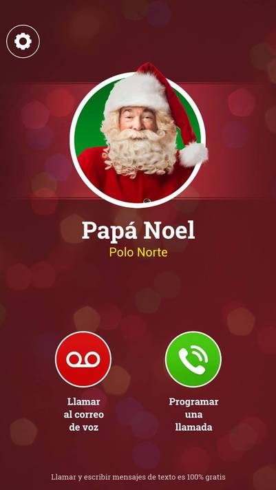 ¡Una llamada de Papá Noel! , la app para que los chicos se porten bien. (Foto: captura Android)