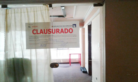 Una oficina de Pay Diamond clausurada en Cochabamba