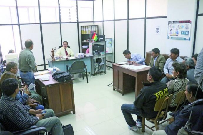 PROCESO. La audiencia de medidas cautelares del secretario General de la Alcaldía de Sucre, Enrique Leaño, fue ayer.
