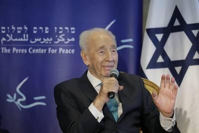 El ex presidente israelí y Premio Nobel de la Paz Shimon Peres