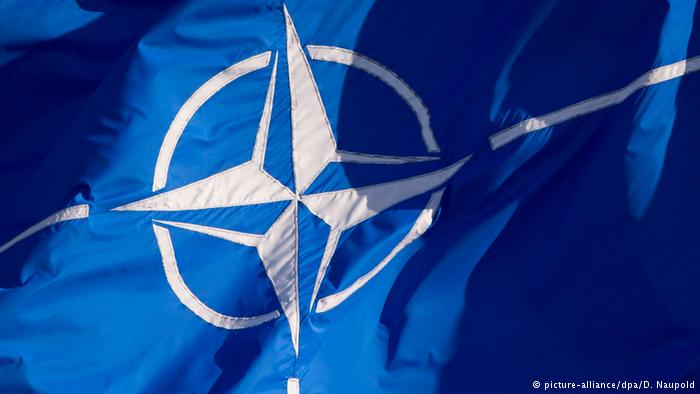 Nato Logo (picture-alliance/dpa/D. Naupold)