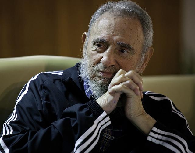 Fidel Castro durante la presentación de su libro,