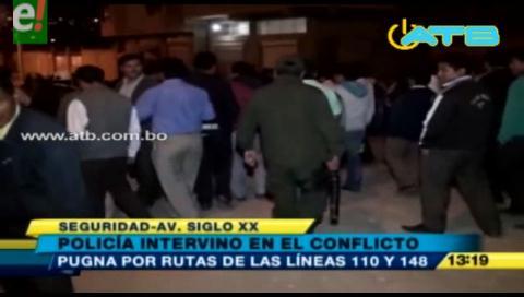 Cochabamba. Transportistas se apedrearon por pugnas de rutas