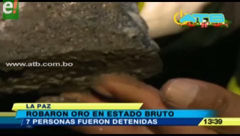 Felcc aprehendió a 7 acusados de robar oro de una mina