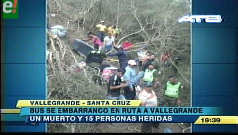 Un muerto y 15 heridos al embarrancarse una flota en la ruta a Vallegrande