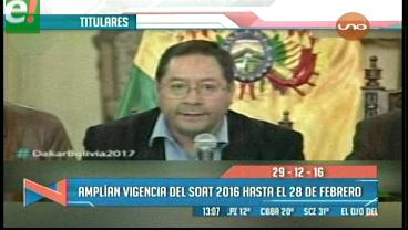 Titulares de TV: Amplían vigencia del Soat 2016 hasta el 28 de febrero del 2017