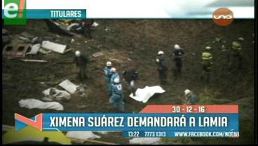 Titulares de TV: Ximena Suárez exigirá una indemnización a LaMia