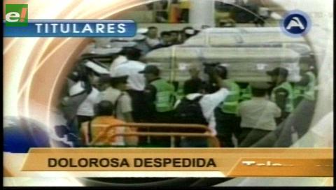 Titulares de TV: Los cuerpos de los bolivianos que murieron en accidente ya están en el país
