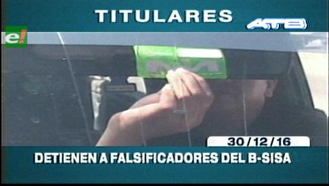 Titulares de TV: Detienen a falsificadores del B-Sisa