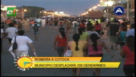 200 gendarmes municipales resguardarán la romería a Cotoca