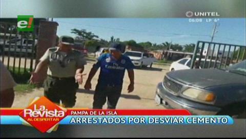 Arrestados por desviar más de 500 bolsas de cemento