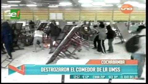 Enfrentamiento por administración de comedor de la UMSS deja heridos y varios detenidos