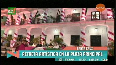 Alcaldía cruceña realizó una actividad cultural con motivo navideño