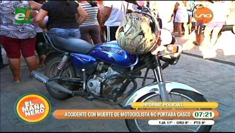 Por esquivar a un perro: Acompañante de motociclista muere en accidente