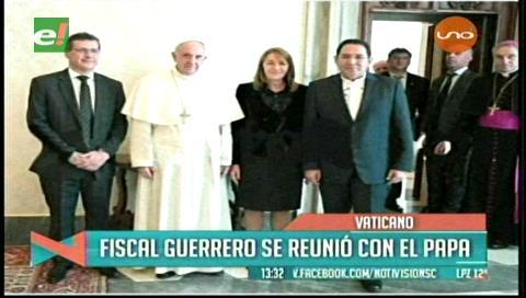 Fiscal Guerrero se reunió con el Papa Francisco