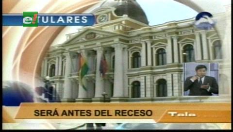 Titulares de TV: ALP interpelará al ministro de Hidrocarburos, responderá sobre las reservas en el país