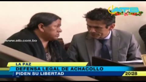 Nemesia Achacollo tramita su libertad