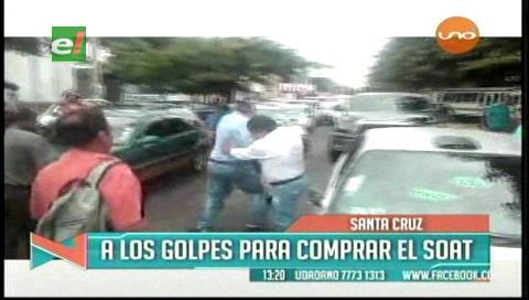 Ciudadanos a los golpes por el SOAT
