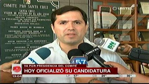 Leonardo Roca se postula como candidato a la Presidencia del Comité Cívico Pro Santa Cruz