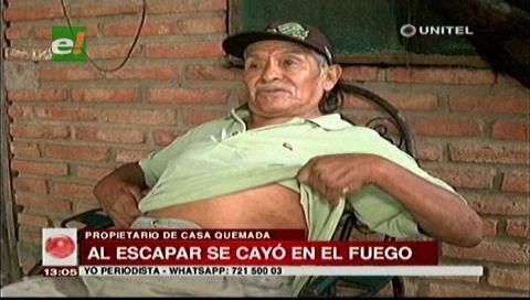 Anciano pierde su casa por un incendio y necesita ayuda