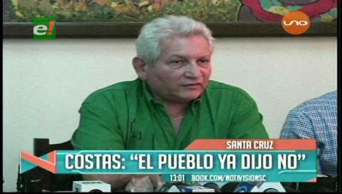Rubén Costas reafirma que es inconstitucional la repostulación de autoridades