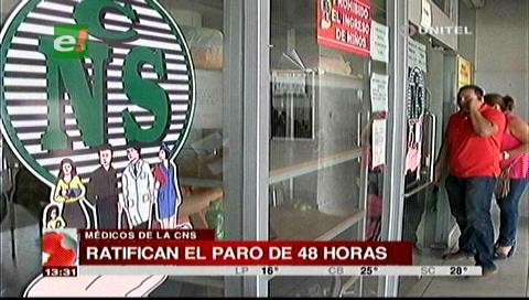 Los trabajadores de la CNS ratifican paro de 48 horas