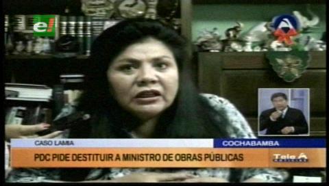 Caso LaMia: PDC pide destituir al Ministro de Obras Públicas