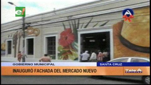 Inauguran nueva fachada del Mercado Nuevo en el centro cruceño