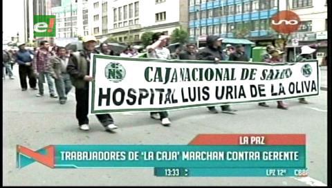 La Paz: Trabajadores de la CNS se movilizan y no descartan ir al paro indefinido